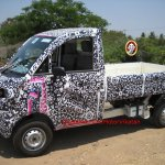 Mahindra P601 front three quarter spyshot