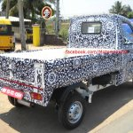 Mahindra P601 rear three quarter spyshot