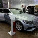 Mercedes C-Class long wheelbase front three quarters at Auto China 2014
