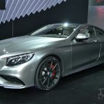 Mercedes S63 AMG Coupe at 2014 NY Auto Show front quarter