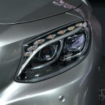 Mercedes S63 AMG Coupe at 2014 NY Auto Show headlight