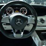 Mercedes S63 AMG Coupe at 2014 NY Auto Show steering