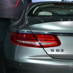 Mercedes S63 AMG Coupe at 2014 NY Auto Show taillight