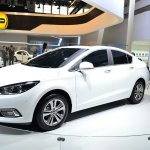 New Chevrolet Cruze front three quarters right at Auto China 2014