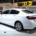 New Chevrolet Cruze rear three quarters at Auto China 2014