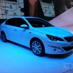 Peugeot 408 sedan front three quarters at Auto China 2014