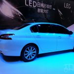 Peugeot 408 sedan rear three quarters at Auto China 2014