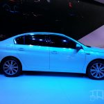 Peugeot 408 sedan side at Auto China 2014