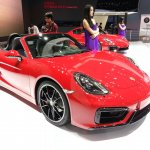 Porsche Boxster GTS front three quarters at Auto China 2014