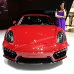 Porsche Cayman GTS front at Auto China 2014