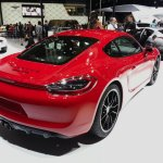 Porsche Cayman GTS rear three quarters at Auto China 2014