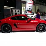 Porsche Cayman GTS side at Auto China 2014