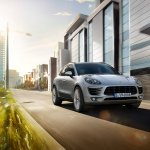 Porsche Macan 2.0 front three quarters left press image