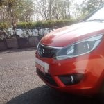 Red Tata Bolt front spyshot