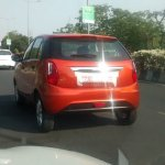 Red Tata Bolt rear three quarter left spyshot