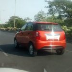Red Tata Bolt rear three quarter spyshot