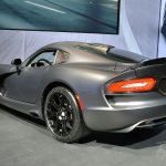 SRT Time Attack on Anodized Carbon Special Edition Viper at 2014 New York Auto Show - rear three quarter left