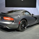 SRT Time Attack on Anodized Carbon Special Edition Viper at 2014 New York Auto Show - rear three quarter