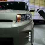 Scion xB Release Series 10.0 headlamp at the 2014 New York Auto Show