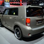 Scion xB Release Series 10.0 rear three quarters at the 2014 New York Auto Show