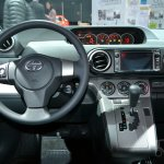 Scion xB Release Series 10.0 steering wheel at the 2014 New York Auto Show