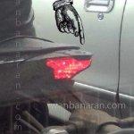 Spied Yamaha R25 taillight