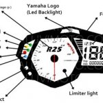 Spied in Indonesia Yamaha R25 instrument cluster