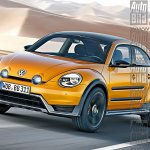 VW Beetle crossover rendering