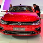 VW New Midsize Coupe Concept front at Auto China 2014