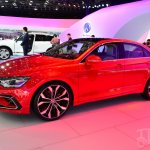 VW New Midsize Coupe Concept front three quarters angle at Auto China 2014
