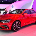 VW New Midsize Coupe Concept front three quarters at Auto China 2014