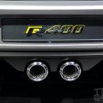 Volkswagen Golf R 400 concept tailpipe
