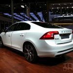 Volvo S60L Hybrid rear three quarters at Auto China