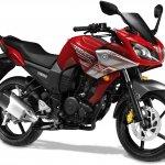 Yamaha Fazer press shot Rising Red
