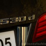 2014 BMW 530d M Sport Review badge bootlid