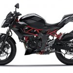 2014 Kawasaki Z250 SL press shots side black