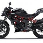 2014 Kawasaki Z250 SL press shots side black