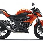 2014 Kawasaki Z250 SL press shots side orange