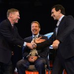 Alan Mulally, Bill Ford & Mark Fields - Press shot