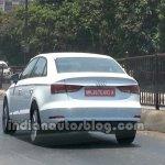 Audi A3 sedan spyshot rear three quarters 2.0 TDI variant