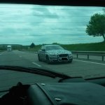 Jaguar XE front three quarter spyshot