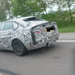Jaguar XE rear three quarter spyshot