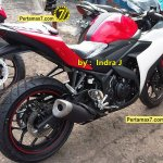 Spied Yamaha R25 production version rear
