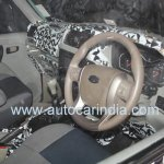 Spied interiors of the 2014 Mahindra Scorpio facelift