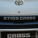 Toyota Etios Cross Review badges