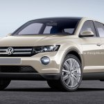 VW T-ROC production version rendering front