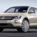 VW T-ROC production version rendering front