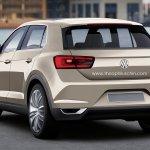 VW T-ROC production version rendering rear