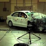 VW Vento crash test Asean NCAP crashed