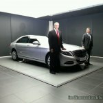 2014 Mercedes S Class S350 diesel India launch live image